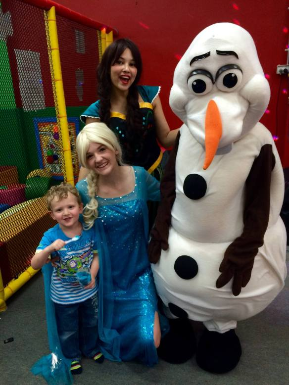 "Hanging with our friends from ""Frozen"""