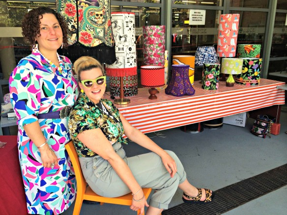 The Fabulous Shady Ladies with their custom lamp shades from Dulwhich Hill Sydney